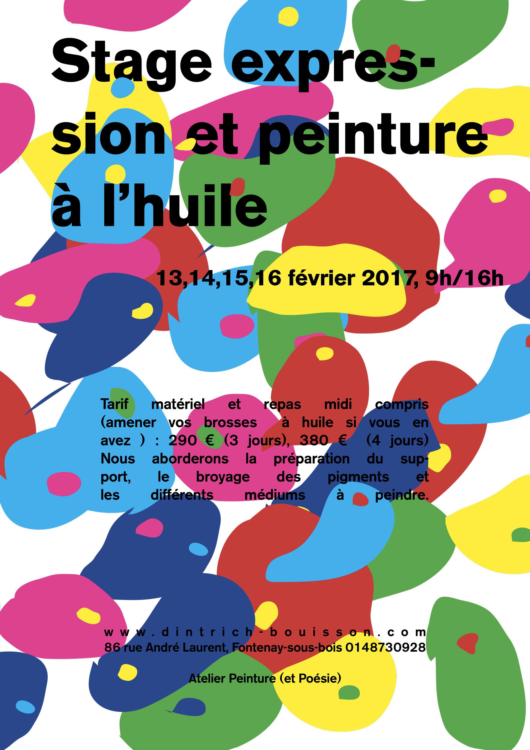 Stage expression et peinture à l'huile, animé par Valérie Dintrich Bouisson à Fontenay-sous-Bois